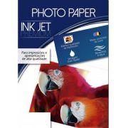 Kit 500 Folhas de Papel Fotográfico Brilhante Jato de Tinta 180g/m² A4 210x297mm