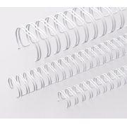 Kit 600 Garras Wire-o para Encadernação A4 Branco Passo 3x1 - 9/16, 1/2, 7/16, 3/8, 5/16 e 1/4
