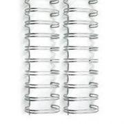 Kit 600 Garras Wire-o para Encadernação A4 Prata Passo 3x1 - 9/16, 1/2, 7/16, 3/8, 5/16 e 1/4