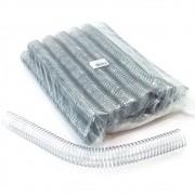 Kit 648 Espirais para Encadernação Transparente (Cristal) 29mm até 200 Folhas