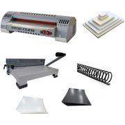 Kit Plastificadora Encadernadora e Todo Material Excentrix A4