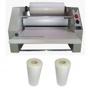 Kit Plastificadora Rotativa Oficio R280 + 2 Bobinas 23cm