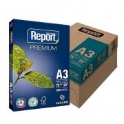 Papel Sulfite Branco Report Premium A3 297x420mm 75g/m² Suzano - Caixa com 2500 Folhas