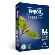 Papel Sulfite Branco Report Premium A4 210x297mm 75g/m² Suzano - Pacote Com 500 Folhas