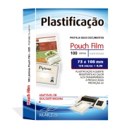 Polaseal para Plastificação Título de Eleitor 73x106x0,05mm (125 micras) - Pacote com 100 unidades