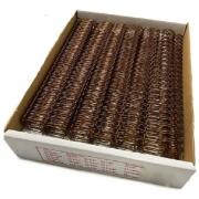 """Wire-o Para Encadernação A4 Bronze 1/4"""" Até 20 Folhas (Passo 3x1) - Caixa com 100 unidades"""