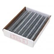 """Wire-o para Encadernação A4 Prata 7/16"""" até 90 Folhas (Passo 3x1) - Caixa com 100 unidades"""