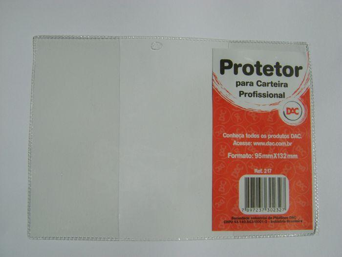 Protetor Porta Carteira De Trabalho Passaporte em Bolsa PVC Cristal 95x132x0,13mm DAC - Pacote com 50 unidades  - Click Suprimentos