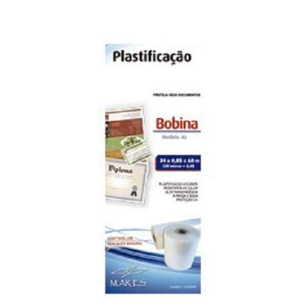 Bobina para Plastificação A3 34cm x 60M x 0,05mm (125 micras)  - Click Suprimentos
