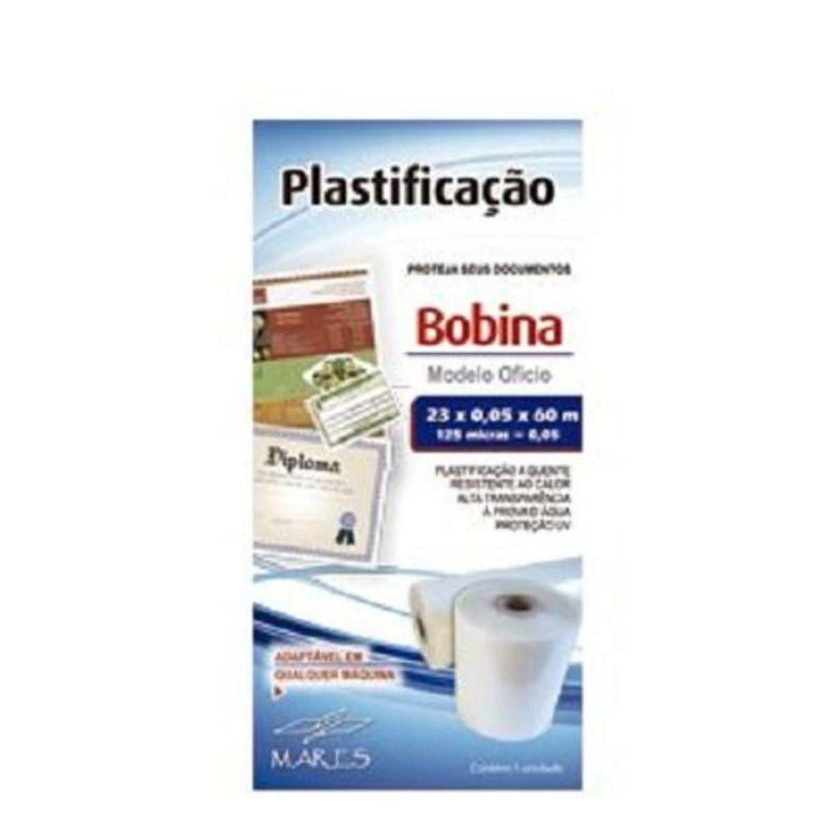 Bobina para Plastificação Oficio 23cm x 60M x 0,05mm (125 micras)  - Click Suprimentos