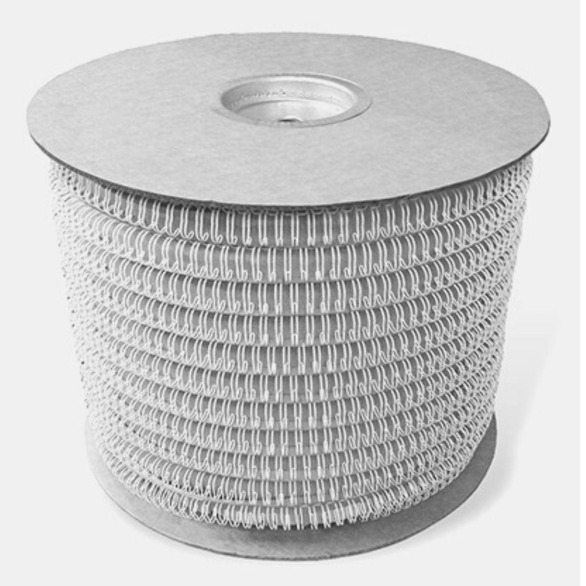 """Bobina Wire-o para Encadernação Prata 9/16"""" até 110 Folhas (Passo 3x1) - 21.000 Anéis  - Click Suprimentos"""