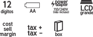 Calculadora de Impressão 12 Dígitos Procalc LP18  - Click Suprimentos