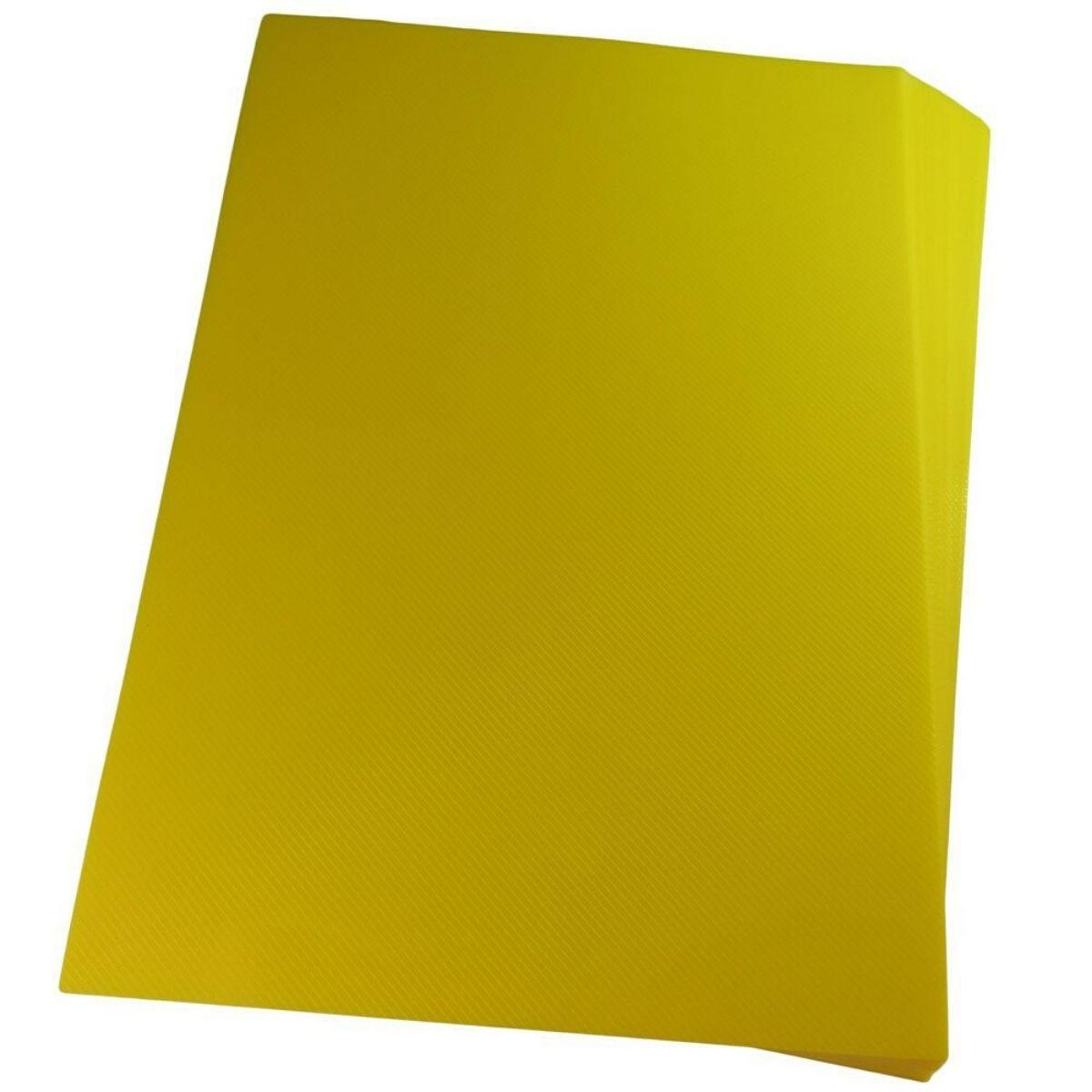 Capa para Encadernação PP 0,30mm A4 Amarela Line (Frente) - Pacote com 100 unidades  - Click Suprimentos