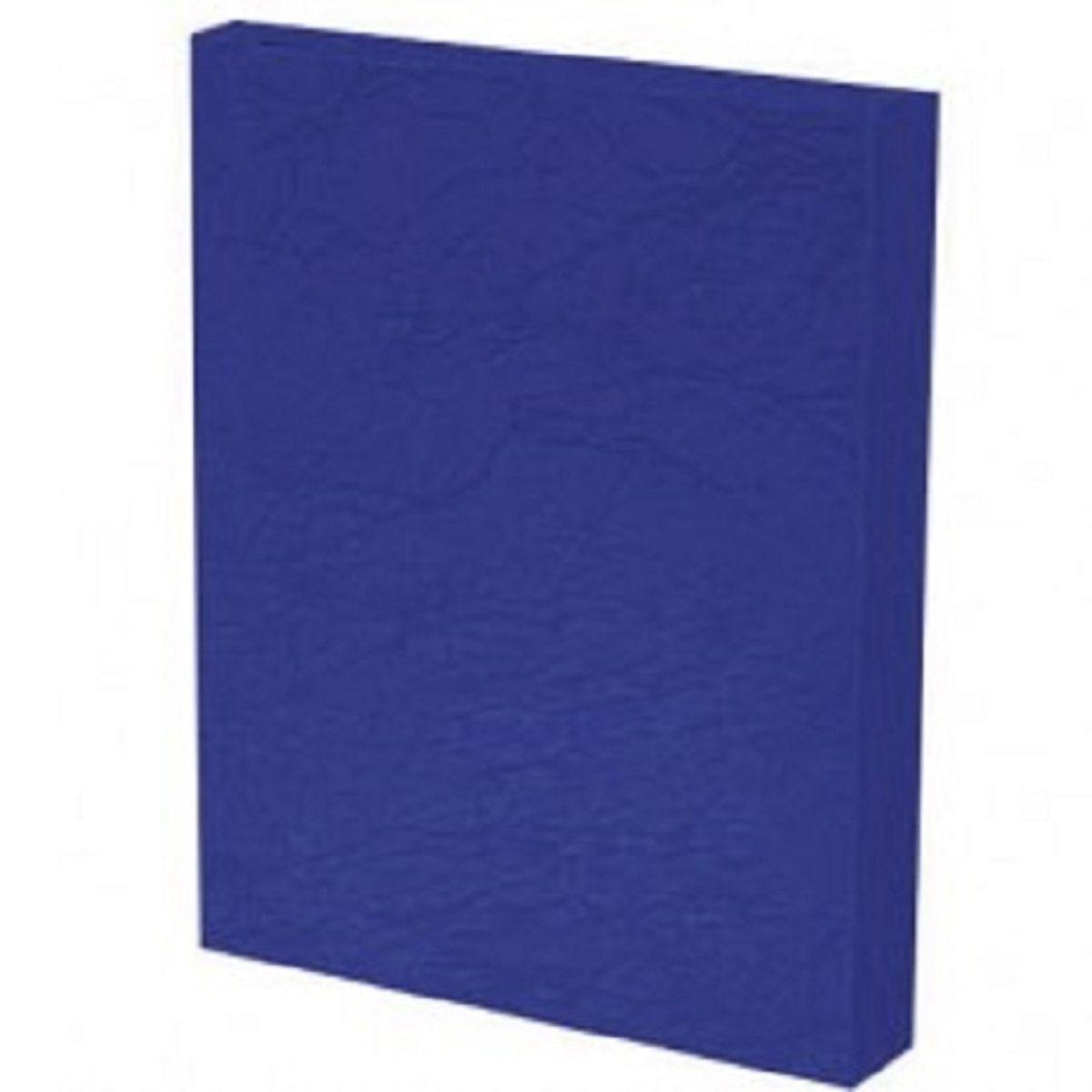 Capa para Encadernação PP 0,30mm A4 Azul Marinho Couro (Fundo) - Pacote com 100 unidades  - Click Suprimentos