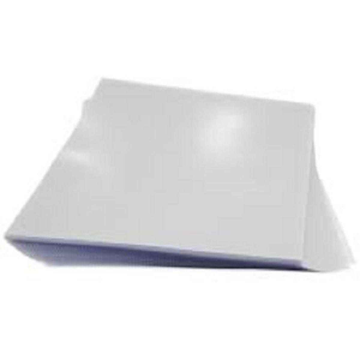 Capa para Encadernação PP 0,30mm Oficio Branca Couro (Fundo) - Pacote com 100 unidades  - Click Suprimentos