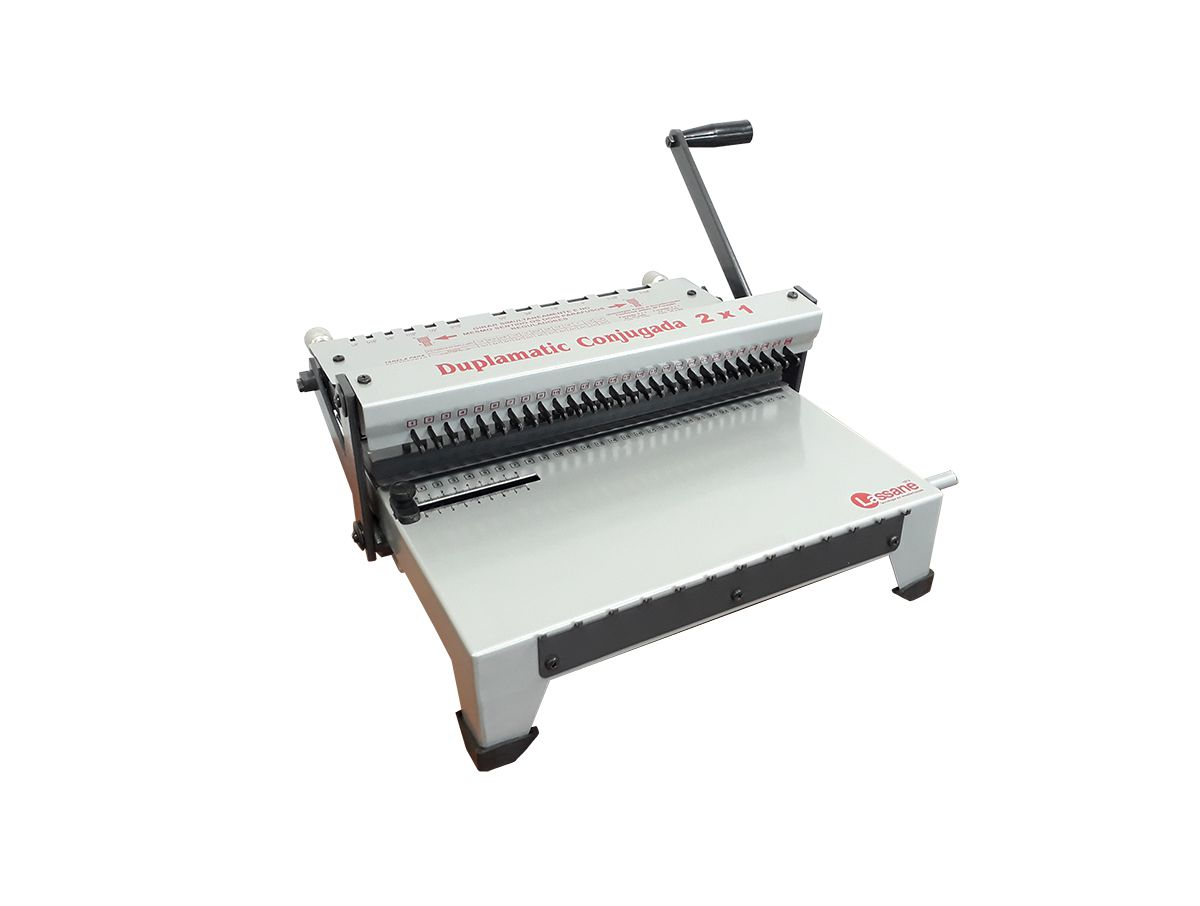Encadernadora Perfuradora e Fechadora Wire-o Duplamatic Conjugada Passo 2x1 Lassane - Furo Quadrado  - Click Suprimentos