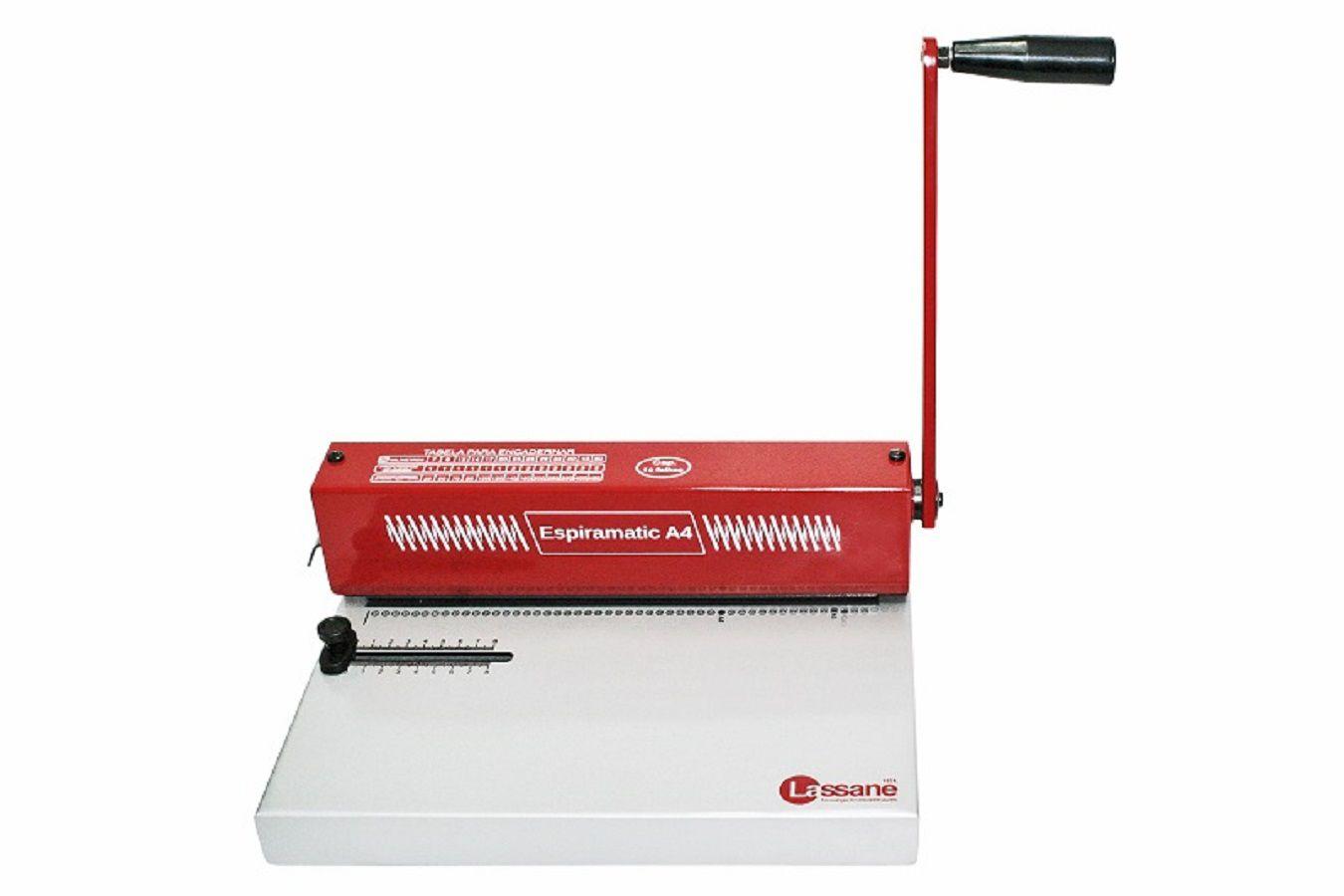 Encadernadora Perfuradora Manual Espiramatic A4 Lassane  - Click Suprimentos