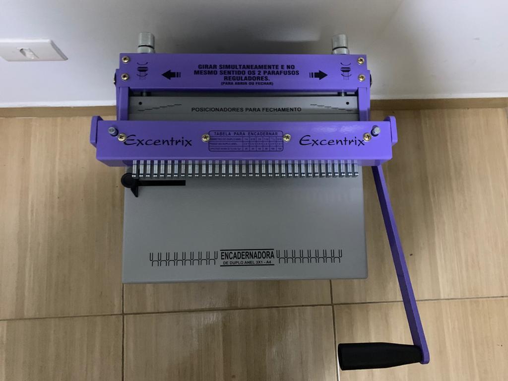 Encadernadora Perfuradora Fechadora Wire-o Passo 3x1 Conjugada e Espiral A4  - Click Suprimentos