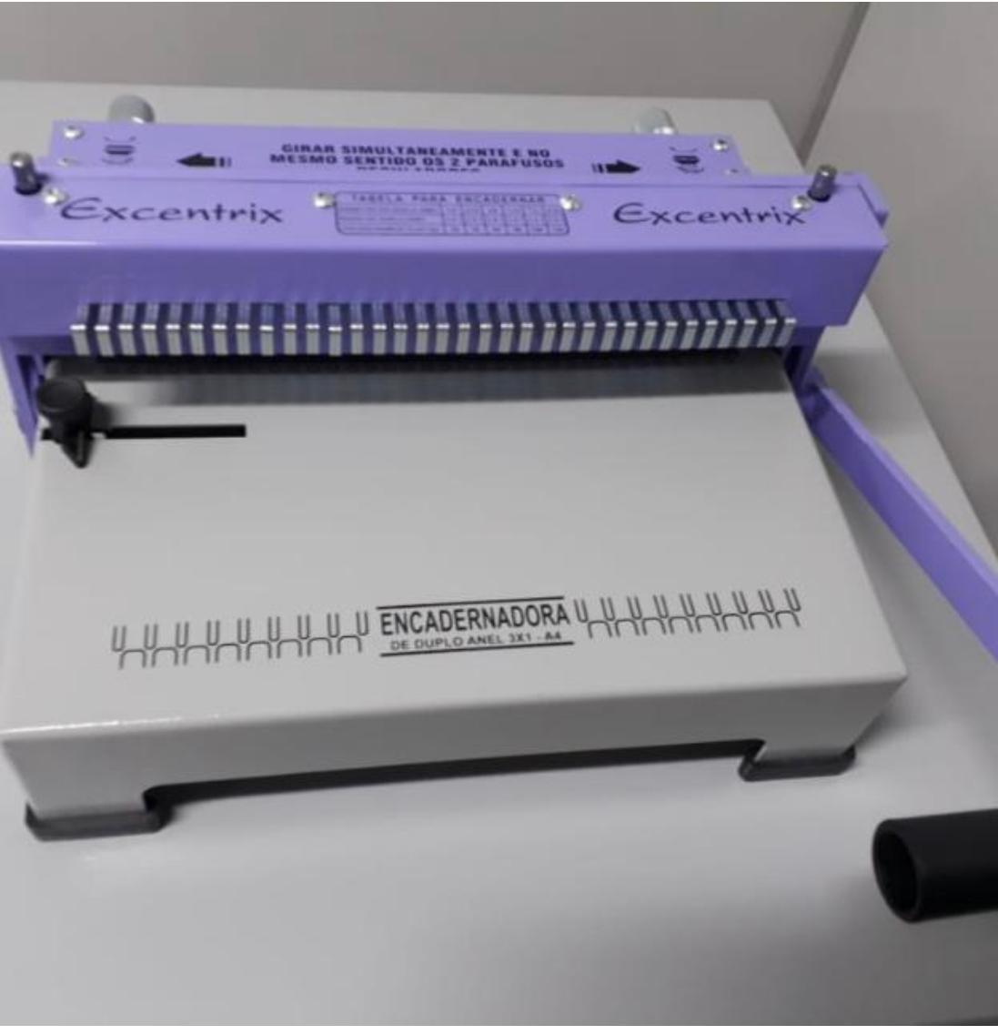 Encadernadora Perfuradora Fechadora Wire-o Passo 3x1 Conjugada e Espiral A4 Excentrix Espiralflex  - Click Suprimentos