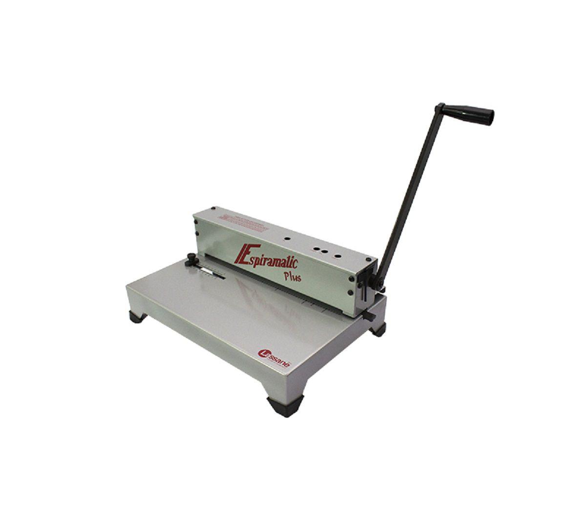 Encadernadora Perfuradora Manual Espiramatic Plus Lassane  - Click Suprimentos