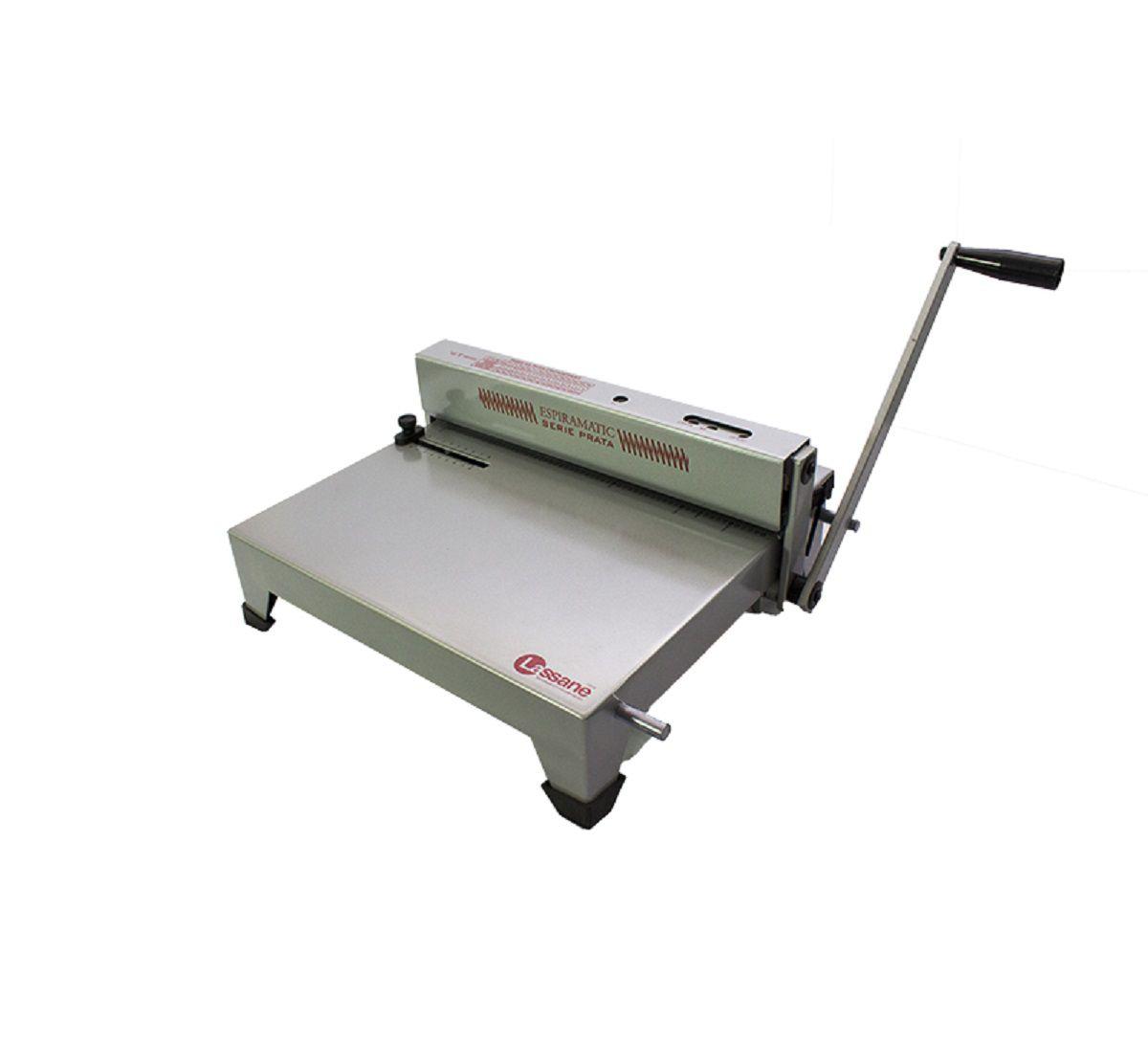 Encadernadora Perfuradora Manual Espiramatic Série Prata Lassane  - Click Suprimentos