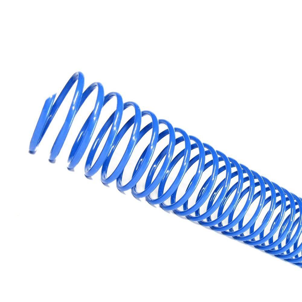 Espiral para Encadernação Azul 17mm até 100 Folhas - Pacote com 100 unidades  - Click Suprimentos