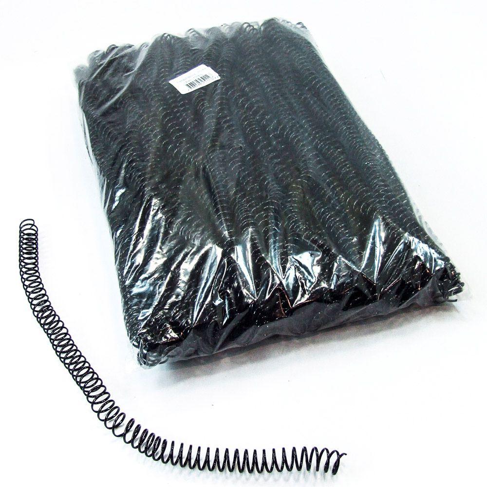 Espiral para Encadernação Preto 12mm até 70 Folhas - Pacote com 100 unidades  - Click Suprimentos