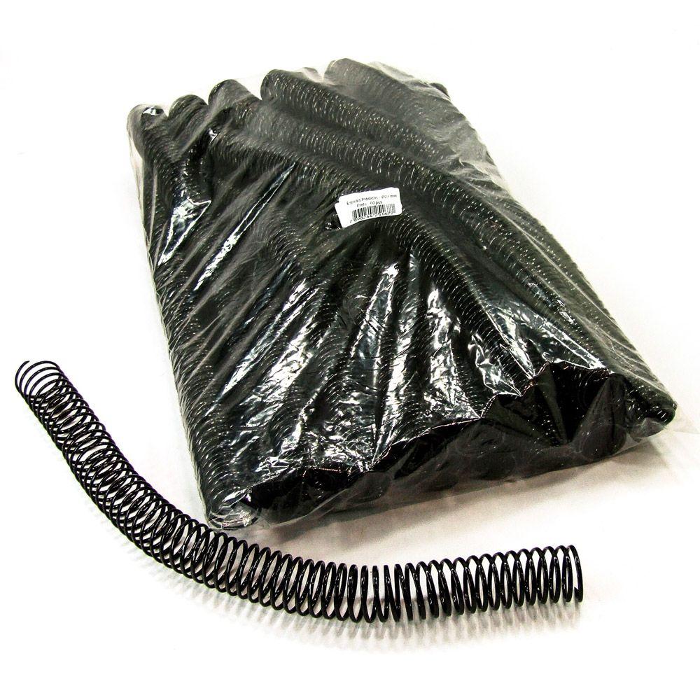 Espiral para Encadernação Preto 23mm até 140 Folhas - Pacote com 60 unidades  - Click Suprimentos
