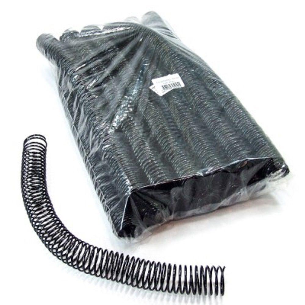 Espiral para Encadernação Preto 25mm até 160 Folhas - Pacote com 48 unidades  - Click Suprimentos