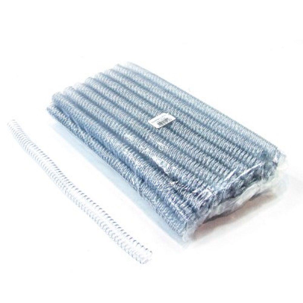 Espiral para Encadernação Transparente (Cristal) 17mm até 100 Folhas - Pacote com 100 unidade  - Click Suprimentos