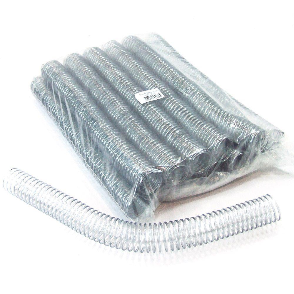 Espiral para Encadernação Transparente (Cristal) 29mm até 200 Folhas - Pacote com 36 unidades  - Click Suprimentos