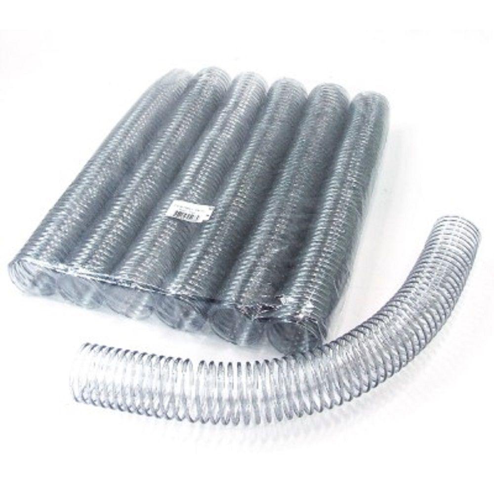 Espiral para Encadernação Transparente (Cristal) 40mm até 350 Folhas - Pacote com 18 unidades  - Click Suprimentos