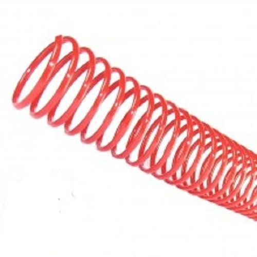 Espiral para Encadernação Vermelho 07mm até 25 Folhas - Pacote com 100 unidades  - Click Suprimentos