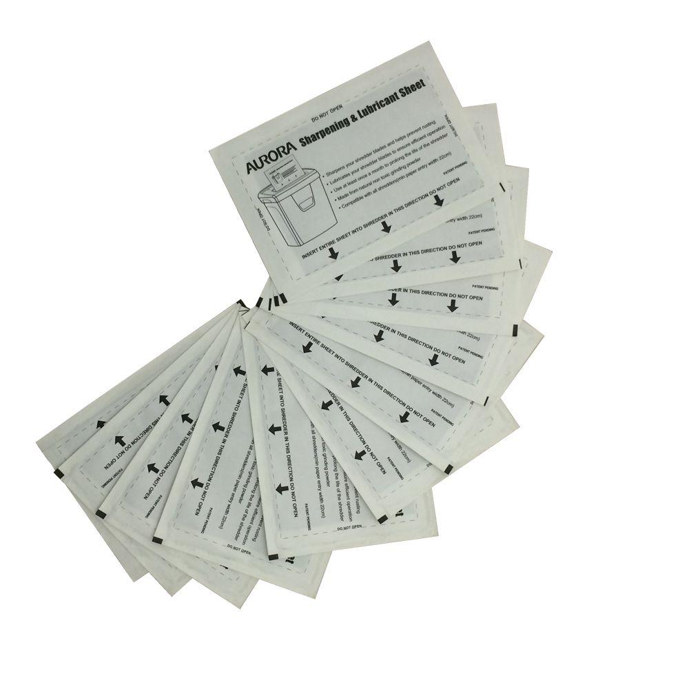 Folhas Limpadoras e Lubrificadoras para Fragmentadoras Aurora SP1000 - Pacote com 12 unidades  - Click Suprimentos