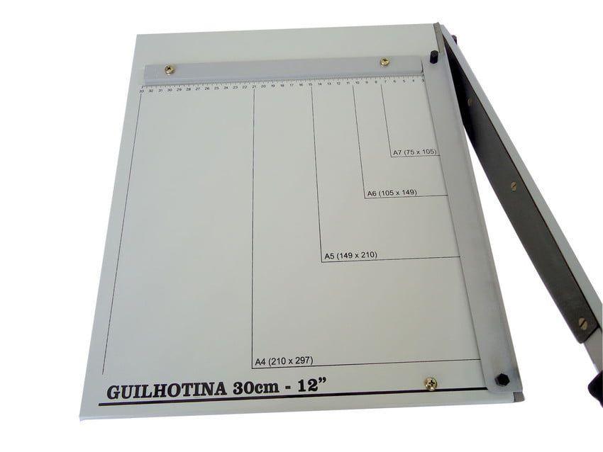 Guilhotina de Papel em Aço A4 30cm até 20 Folhas Excentrix KA30  - Click Suprimentos
