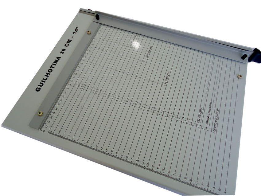 Guilhotina de Papel Oficio 36cm até 20 Folhas Excentrix KA36  - Click Suprimentos