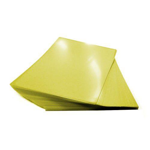 Kit 1000 Capas para Encadernação A4 - 500 Cristal Line (Frente) e 500 Coloridas Couro (Fundo)   - Click Suprimentos