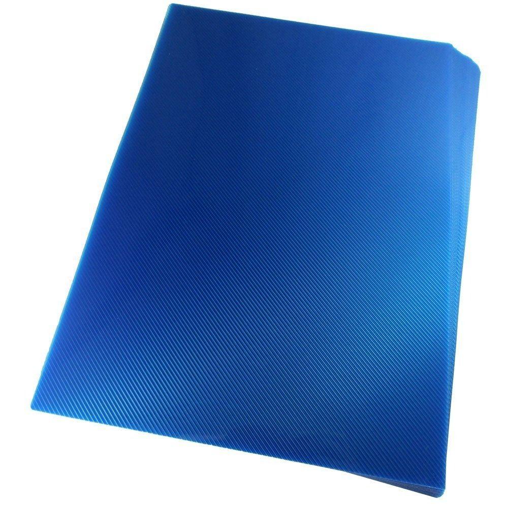 Kit 1000 Capas para Encadernação PP 0,30mm A4 Azul Line (Frente)  - Click Suprimentos