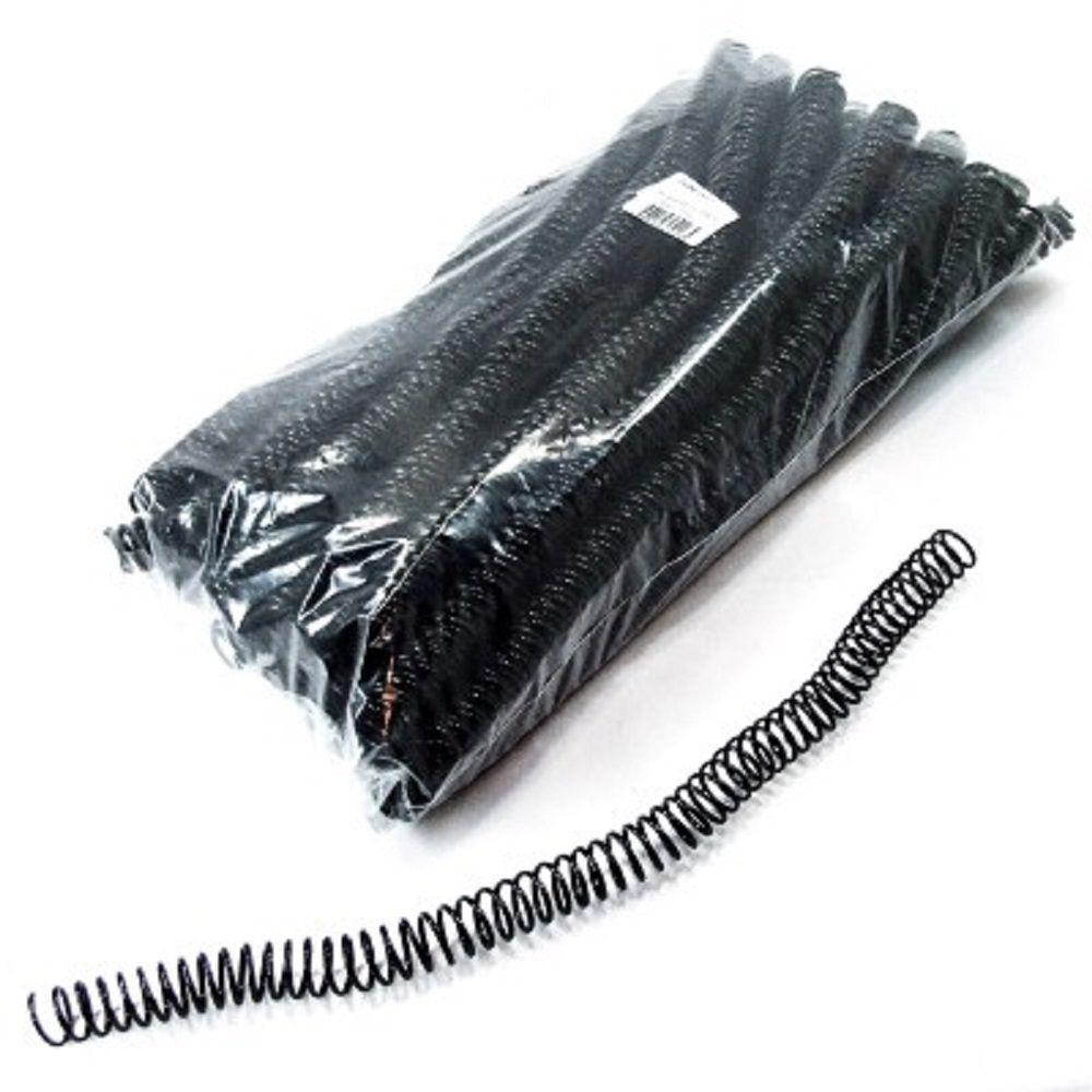 Kit 1000 Espirais para Encadernação Preto 14mm até 85 Folhas  - Click Suprimentos