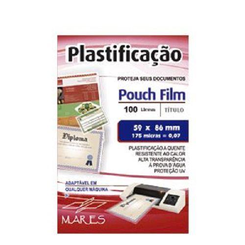 Kit 1000 Plasticos Polaseal para Plastificação Crachá 59x86x0,07mm (175 micras)  - Click Suprimentos