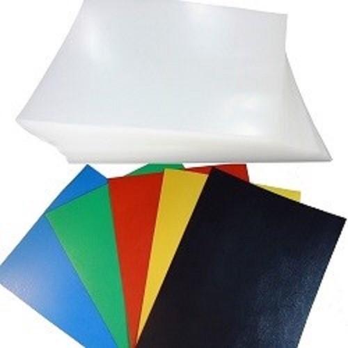 Kit 200 Capas para Encadernação A4 - 100 Cristal Line (Frente) e 100 Coloridas Couro (Fundo)   - Click Suprimentos