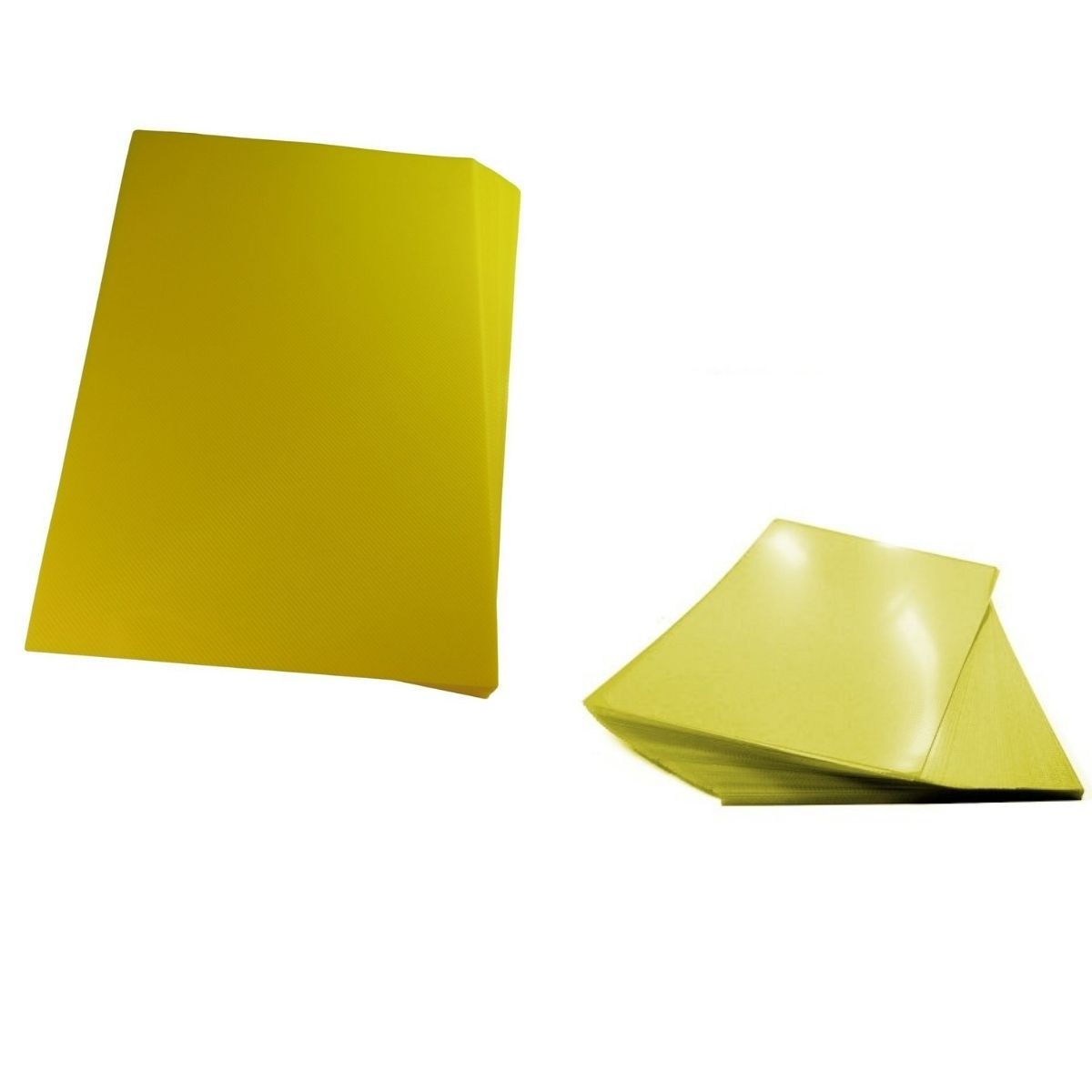 Kit 200 Capas para Encadernação A4 Amarela  - Click Suprimentos