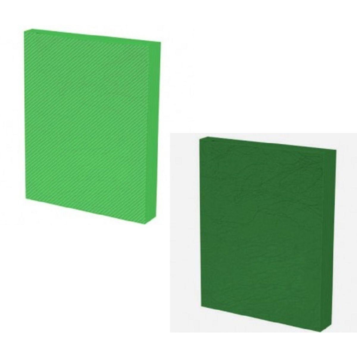Kit 200 Capas para Encadernação A4 Verde  - Click Suprimentos