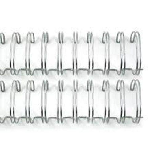 Kit 250 Garras Wire-o para Encadernação A4 Prata Passo 2x1 - 1 1/4, 1 1/8, 1, 7/8, 3/4 e 5/8  - Click Suprimentos