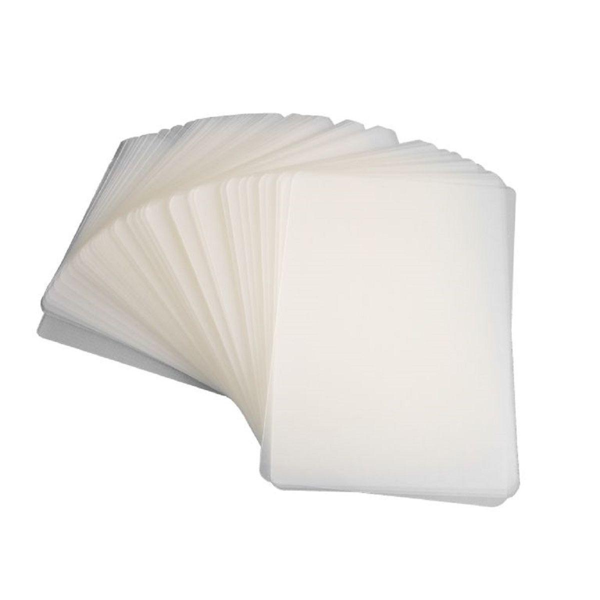 Kit 300 Plasticos Polaseal para Plastificação Crachá 59x86x0,05mm (125 micras)  - Click Suprimentos