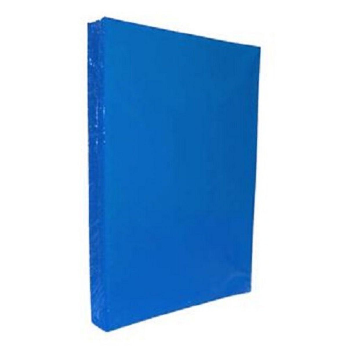 Kit 500 Capas para Encadernação PP 0,30mm A4 Azul Royal Couro (Fundo)  - Click Suprimentos
