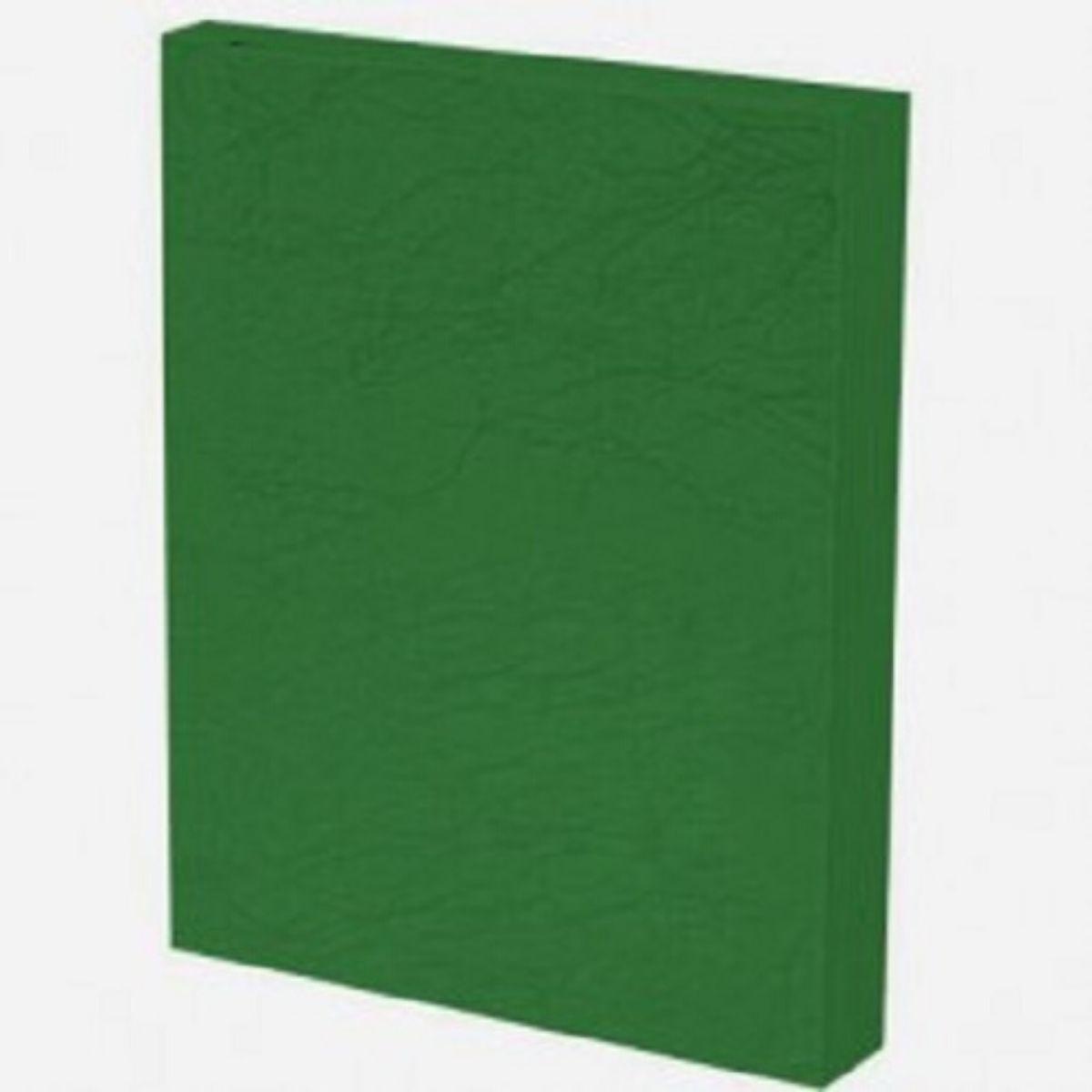 Kit 500 Capas para Encadernação PP 0,30mm A4 Verde Couro (Fundo)  - Click Suprimentos