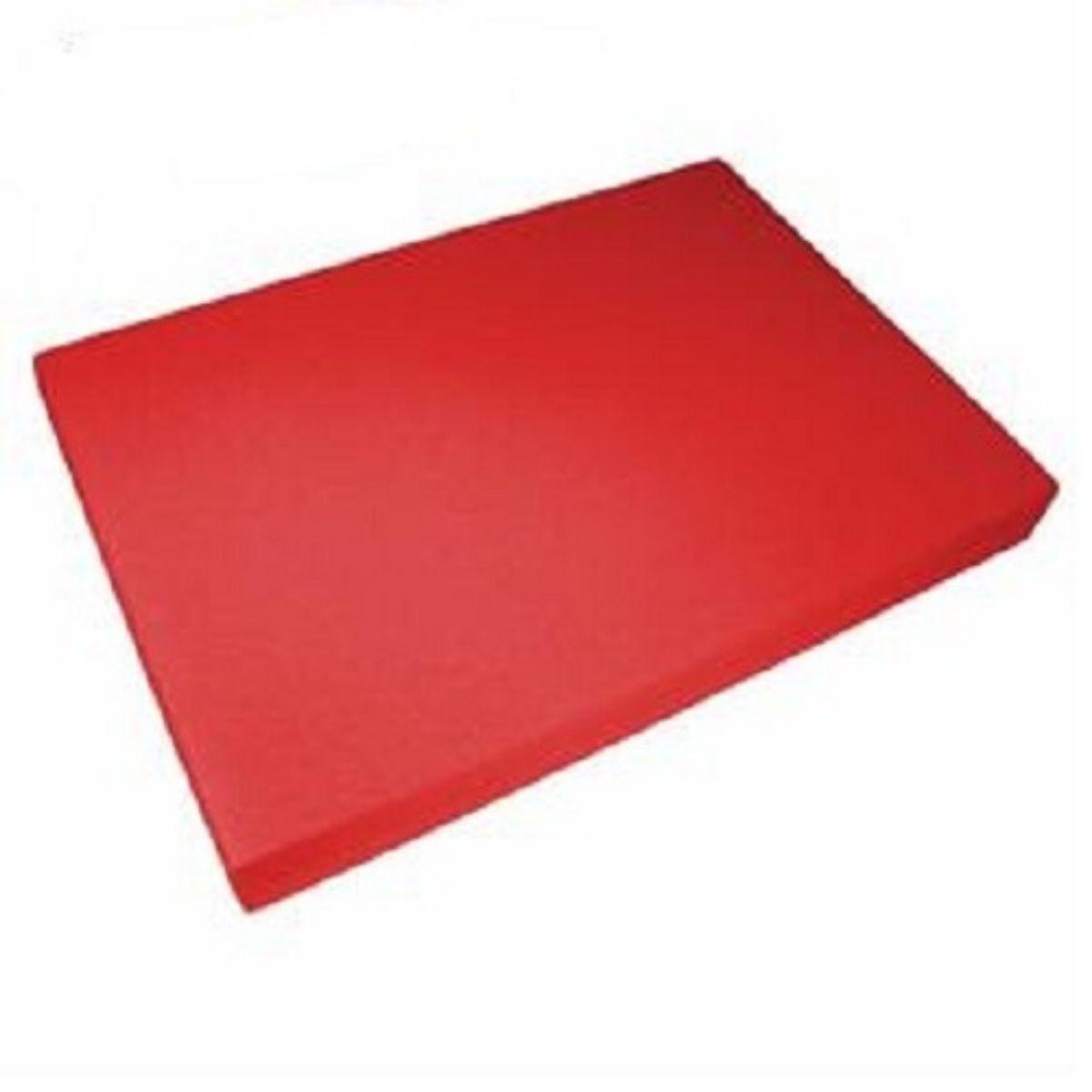 Kit 500 Capas para Encadernação PP 0,30mm A4 Vermelha Couro (Fundo)  - Click Suprimentos