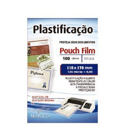 Kit 500 Plásticos Polaseal para Plastificação CGC 110x170x0,05mm (125 micras)  - Click Suprimentos