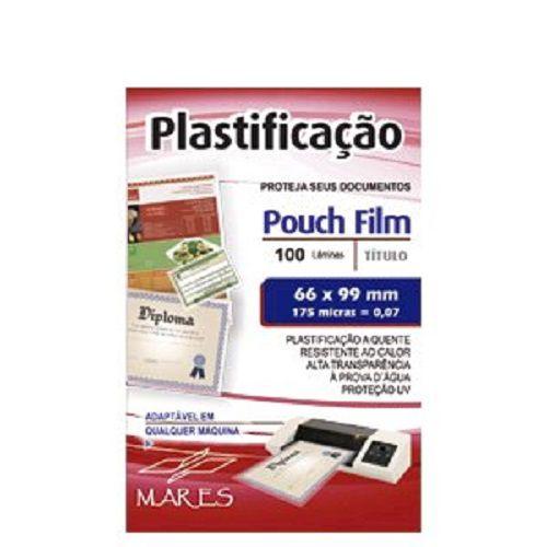 Kit 500 Plasticos Polaseal para Plastificação CPF 66x99x0,07mm (175 micras)  - Click Suprimentos